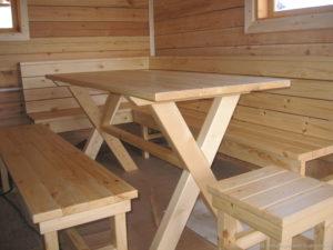 Виды мебели для бани и сауны: преимущества деревянных изделий